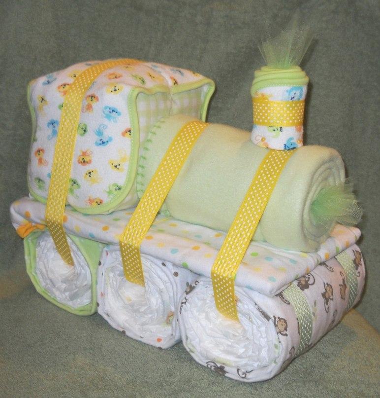 Маленький мк по созданию корзиночки из памперсов | страна мастеров