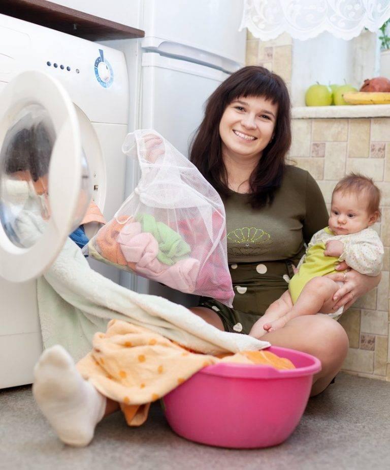 Как стирать детские вещи для новорожденных в стиральной машине температура