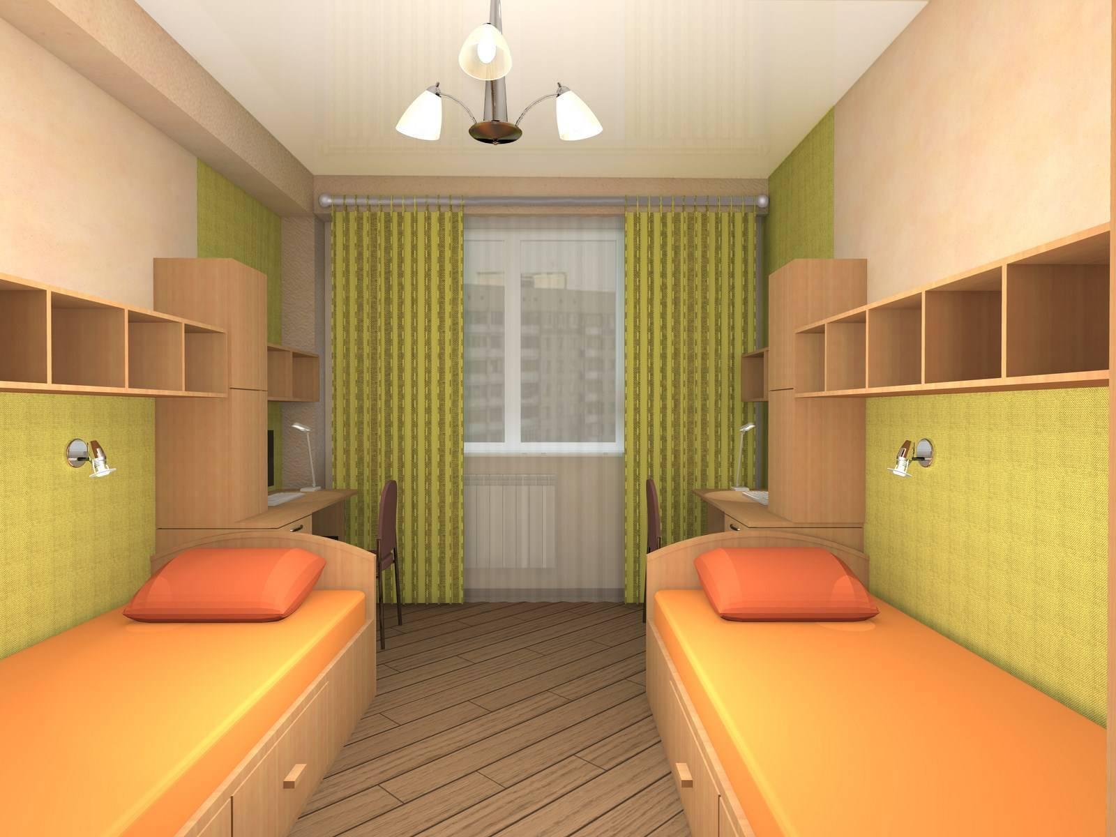 Дизайн детской комнаты для двух девочек разного возраста