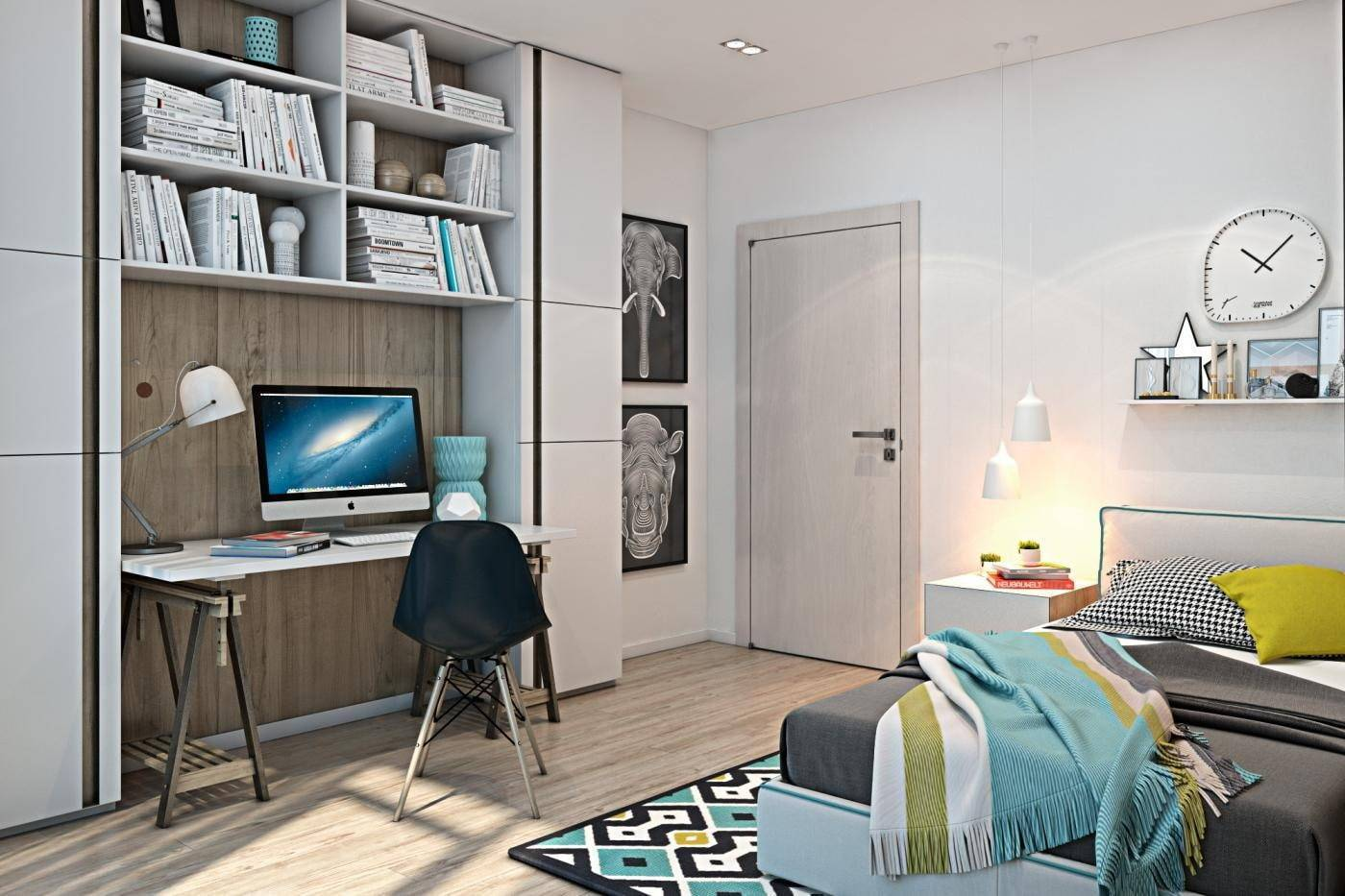 Комната для подростка-мальчика: 72 идеи интерьера спальни в современном стиле | salon