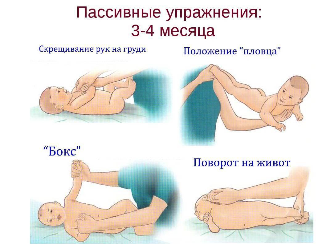 Массаж и гимнастика для ребенка 3-4-5 месяцев: общеукрепляющие упражнения для грудничка с видео-уроками - все о суставах