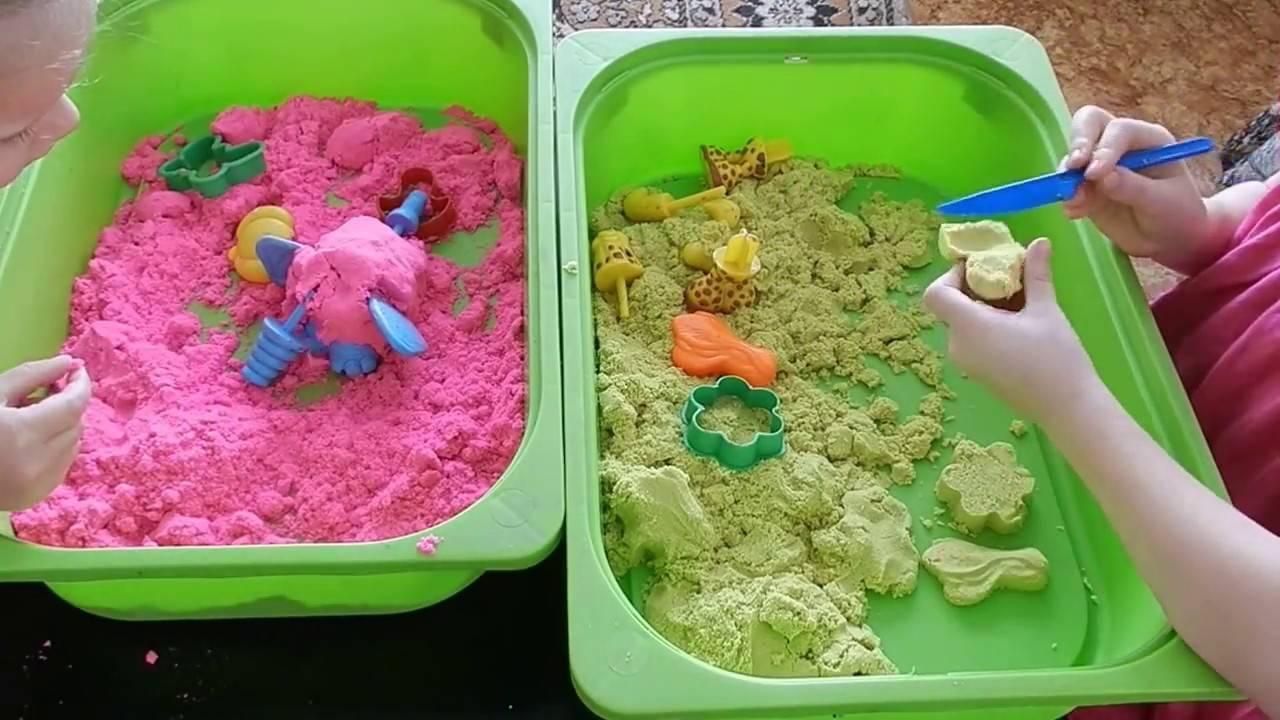 Играем с живым песком: состав массы для лепки, хранение набора, домашняя песочница для детей своими руками. живой песок для детей