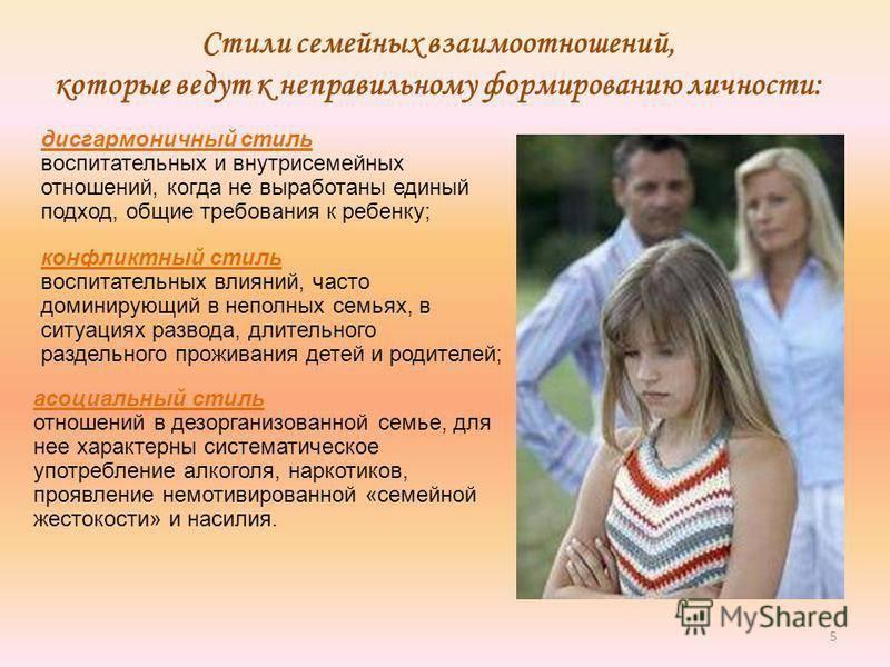 Стили воспитания в семье и их влияние на развитие личности ребенка (таблица) | konstruktor-diety.ru