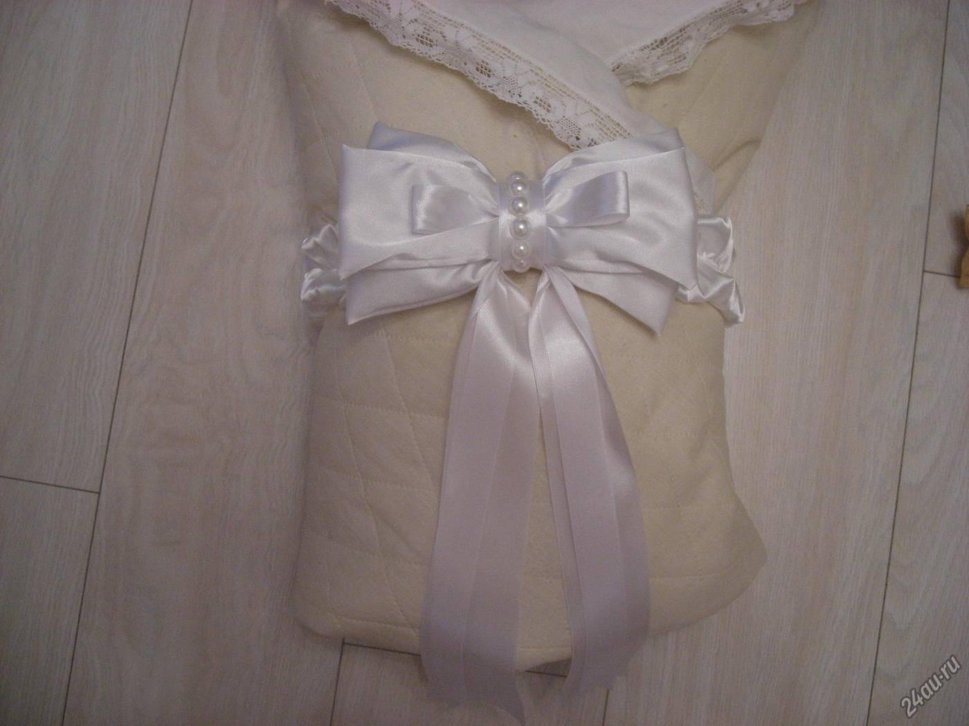 Бант на выписку из роддома: красивые и оригинальные способы украшения конверта для новорожденного своими руками