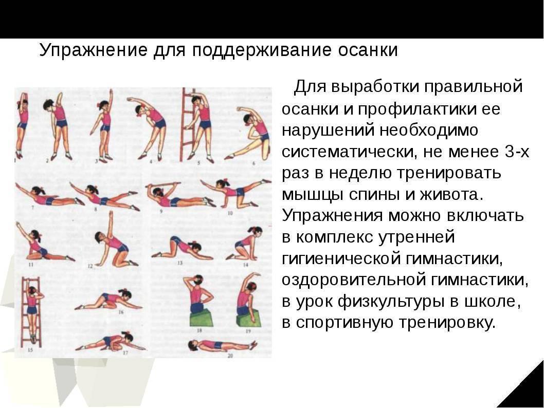 Лфк для детей с нарушением осанки в картинках