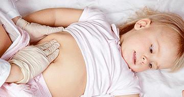 У ребенка боли в животе и поднятие температуры