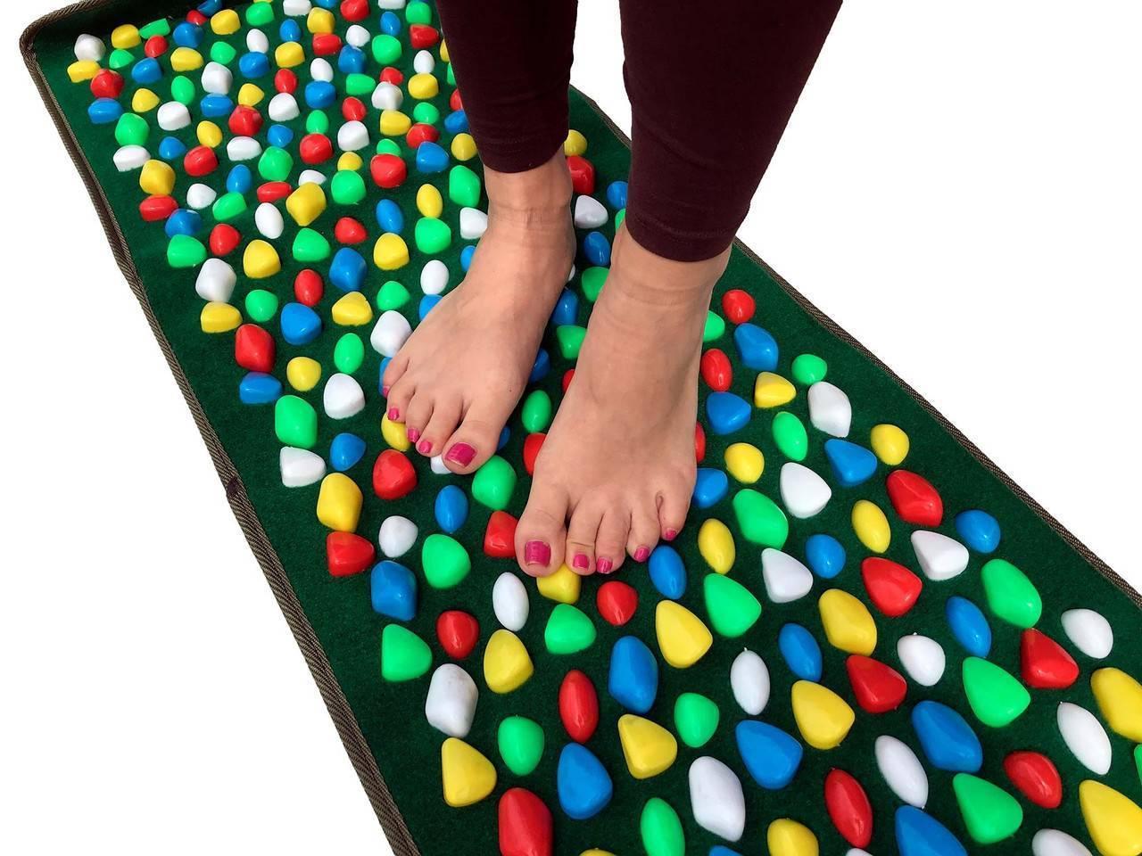 Массажный коврик для ног детей. ортопедический, акупунктурный для стоп, пазл, резиновый, электрический, орто, ежик, сима ленд, с камнями, от плоскостопия
