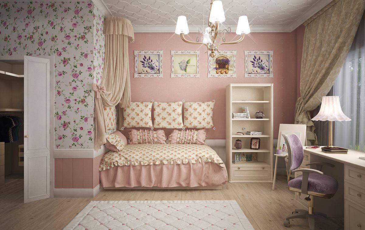 Дизайн детской комнаты для девочки 12 кв. м.