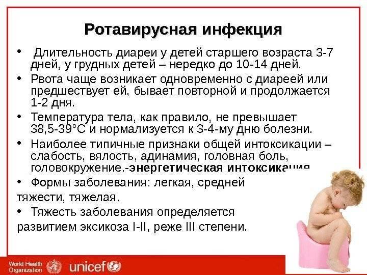 Понос зеленого цвета вместе с симптомами высокой температуры у детей