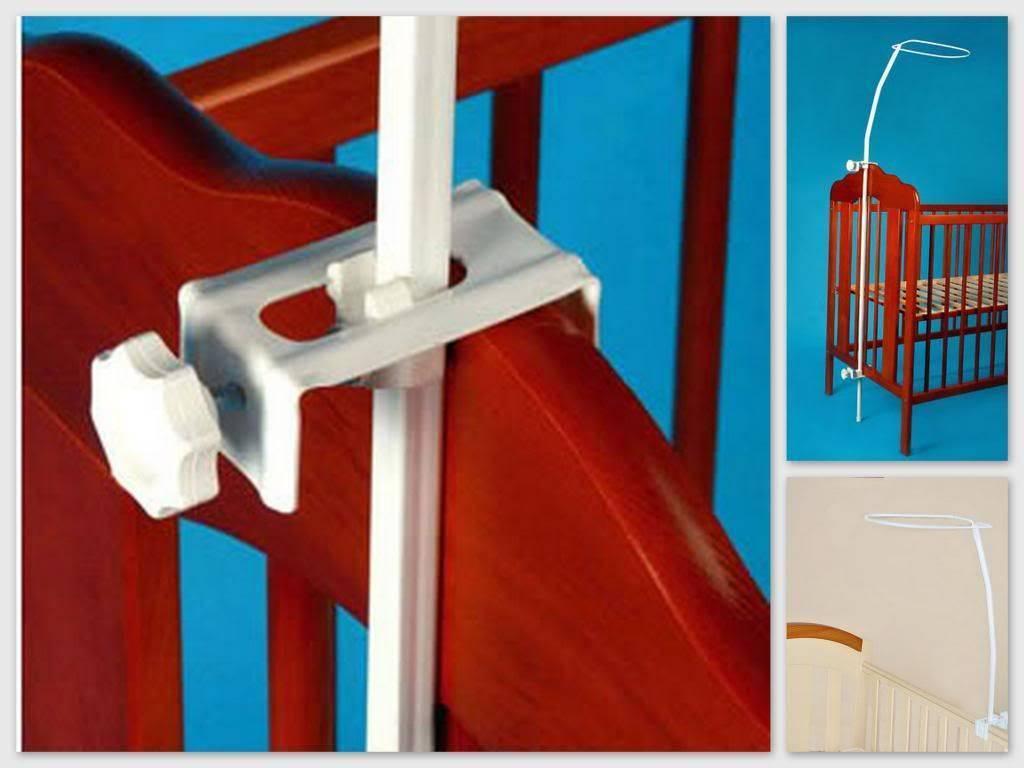 Крепление для балдахина на детскую кроватку - как повесить, одеть: видео