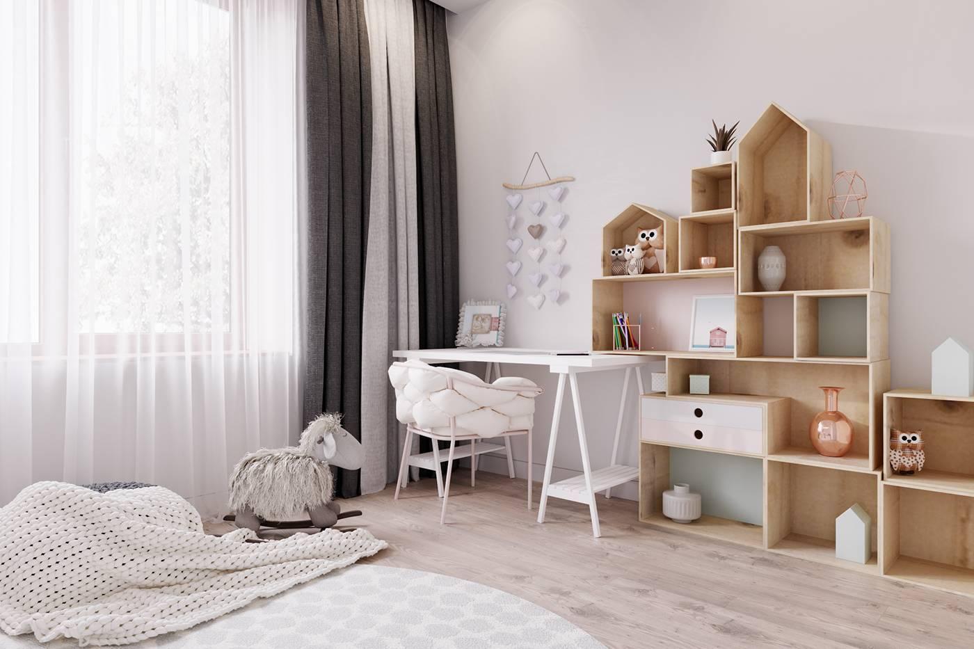 Детская комната в скандинавском стиле: 60 фото + идеи и решения