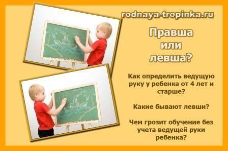 Правша или левша: как определить ведущую руку у ребёнка. правша или левша. простейшие тесты как узнать левша ты или правша