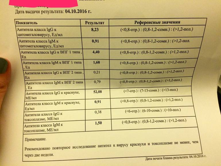 Анализ крови на краснуху при беременности - расшифровка