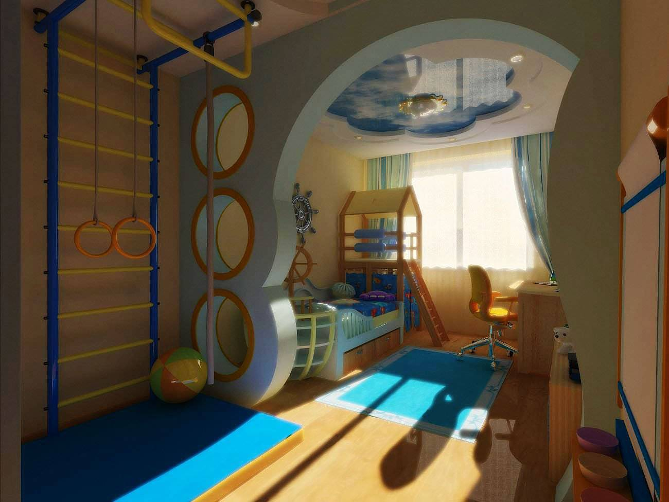 Варианты дизайна детской комнаты площадью 8 кв м