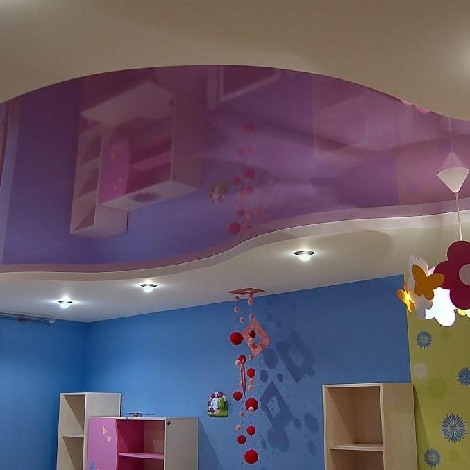 Натяжной потолок в детской комнате. фото дизайнов. как правильно выбрать.