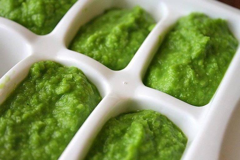 Овощное пюре из брокколи и картошки для детей до 1 года (с 6 месяцев) для прикорма