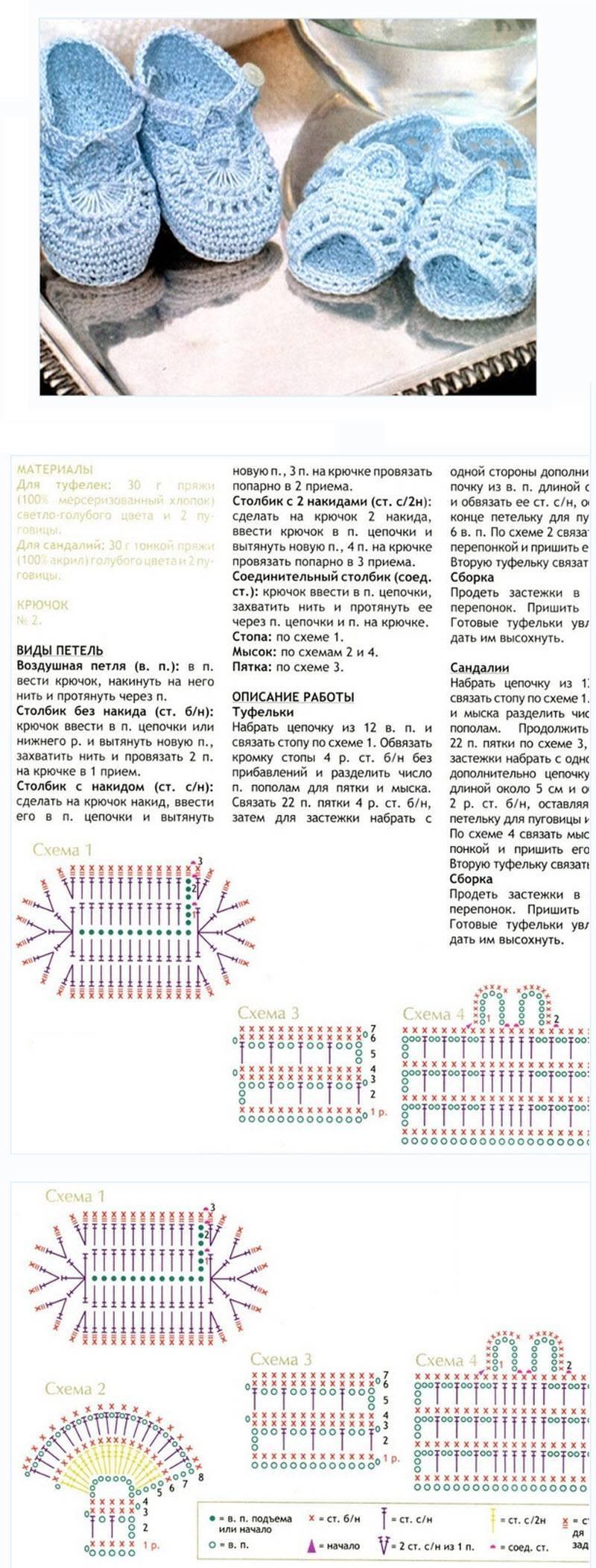 Пинетки крючком - 130 фото описания процесса вязки