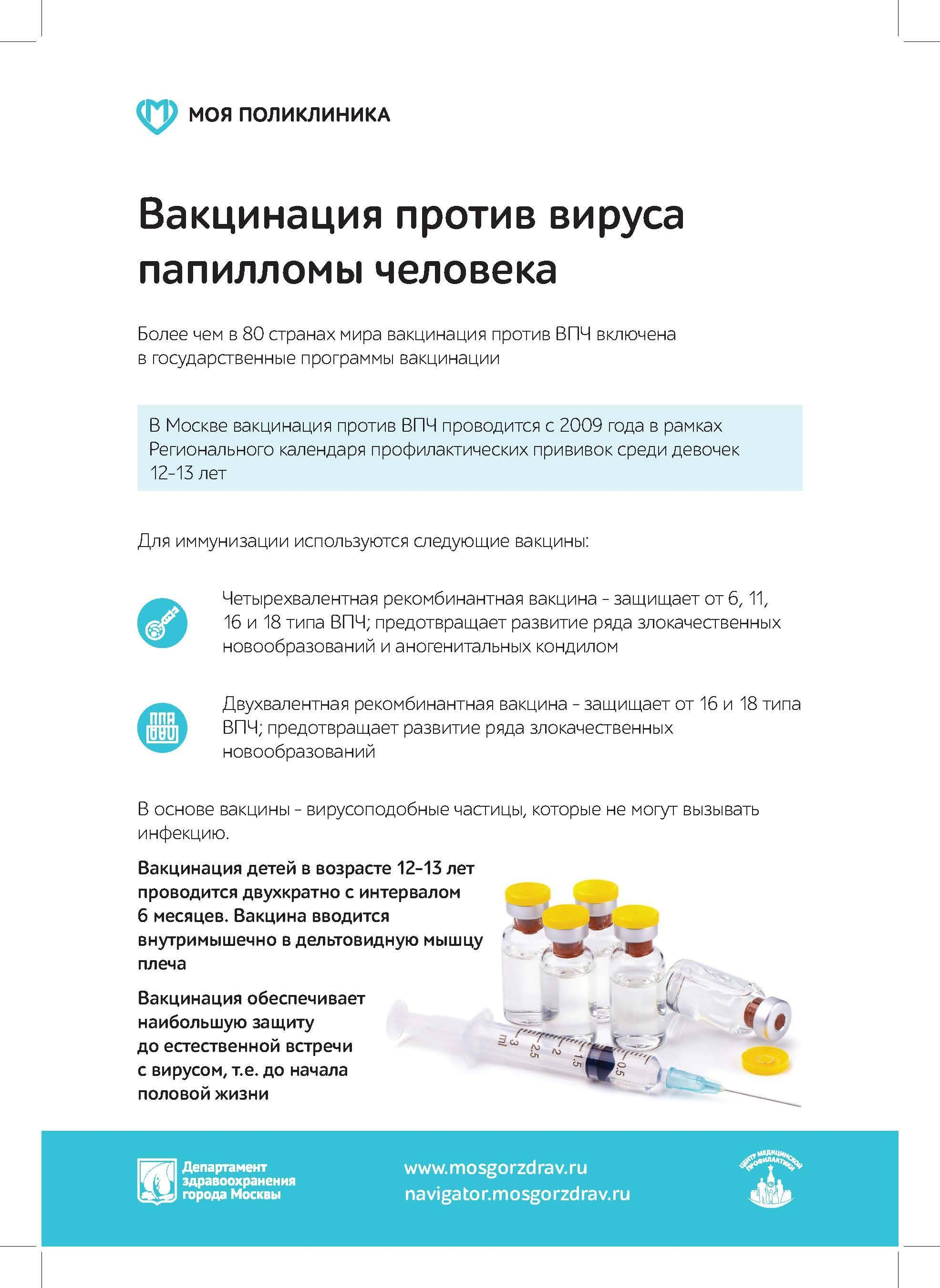 Вакцинация девочек ?⚕️ против папилломавируса человека — топотушки
