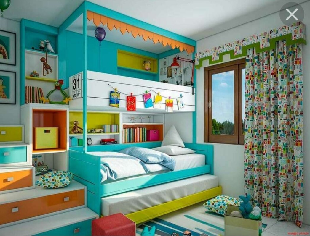 Дизайн интерьера детской 12 кв. м.: интересные, практичные и яркие идеи для детей (145 фото + видео)