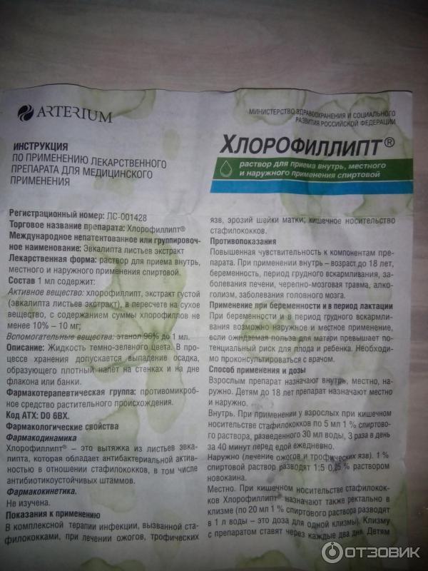 Хлорофиллипт для полоскания горла детям и взрослым: как применять, разводить