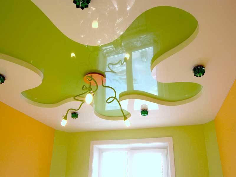 Потолки из гипсокартона в детской комнате (24 фото): подвесные конструкции в спальню для мальчика и девочки подростков