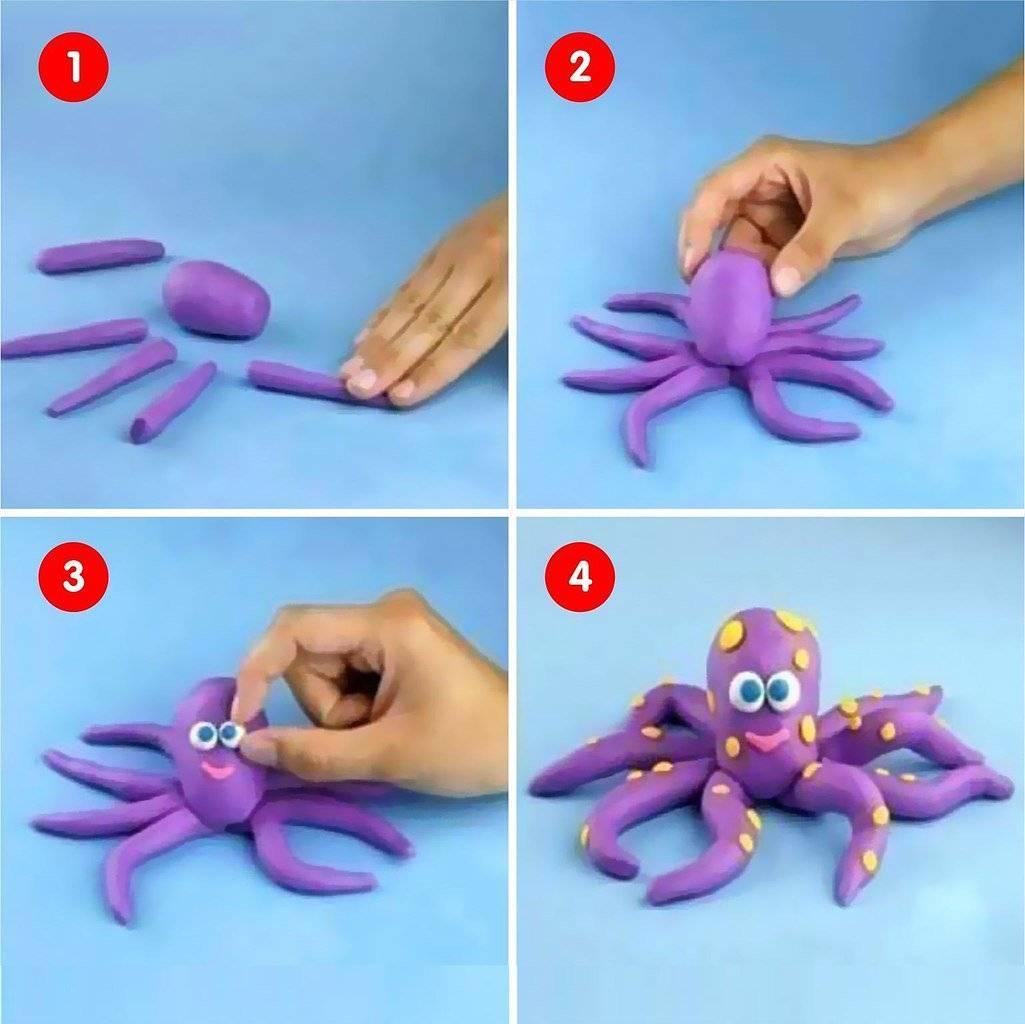 Лепка из пластилина для детей 3–4 лет: уроки пластилинографии с фото