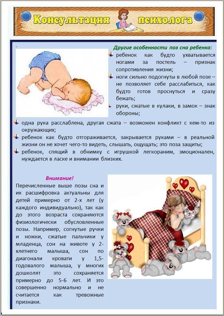 Ребёнок беспокойно спит и много ворочается: выяснение причин и устранение тревожного поведения