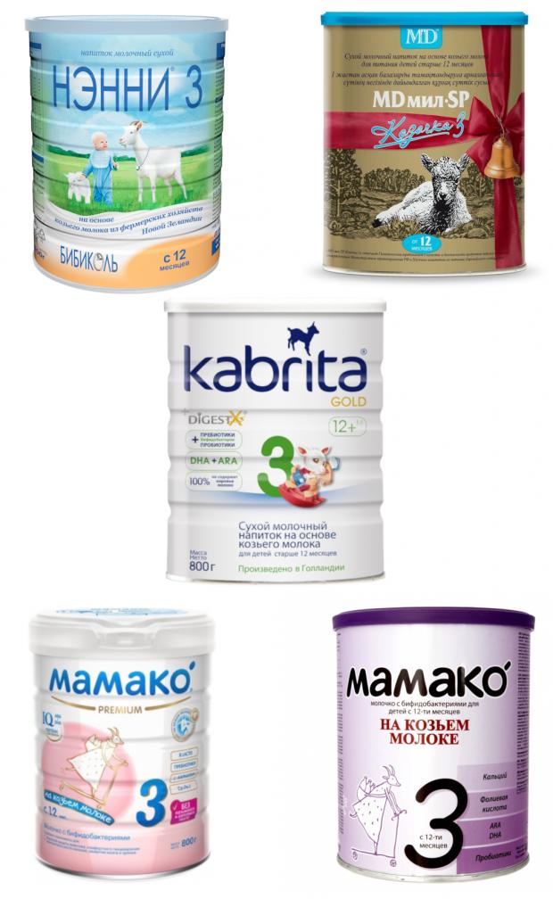 Смеси на козьем молоке: список, цены