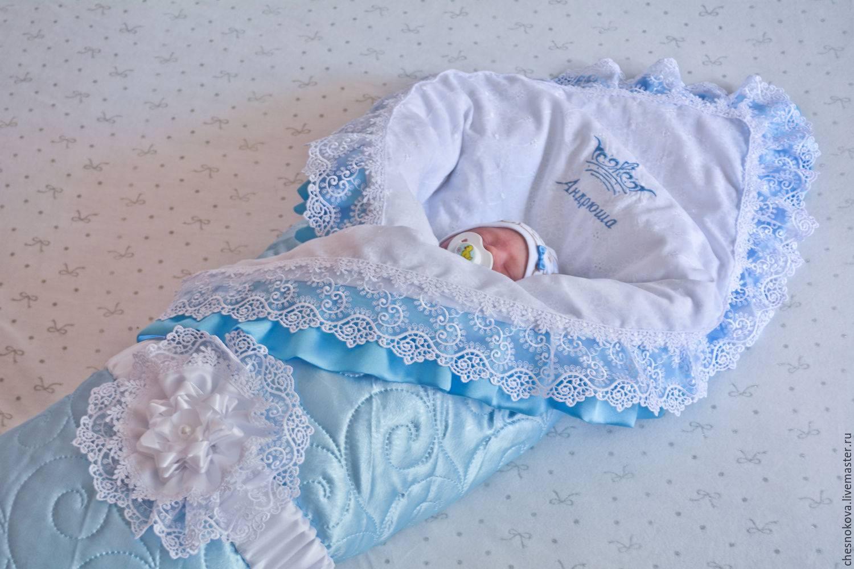 Одеяло на выписку своими руками: как сшить удобный конверт для новорожденных (85 фото)