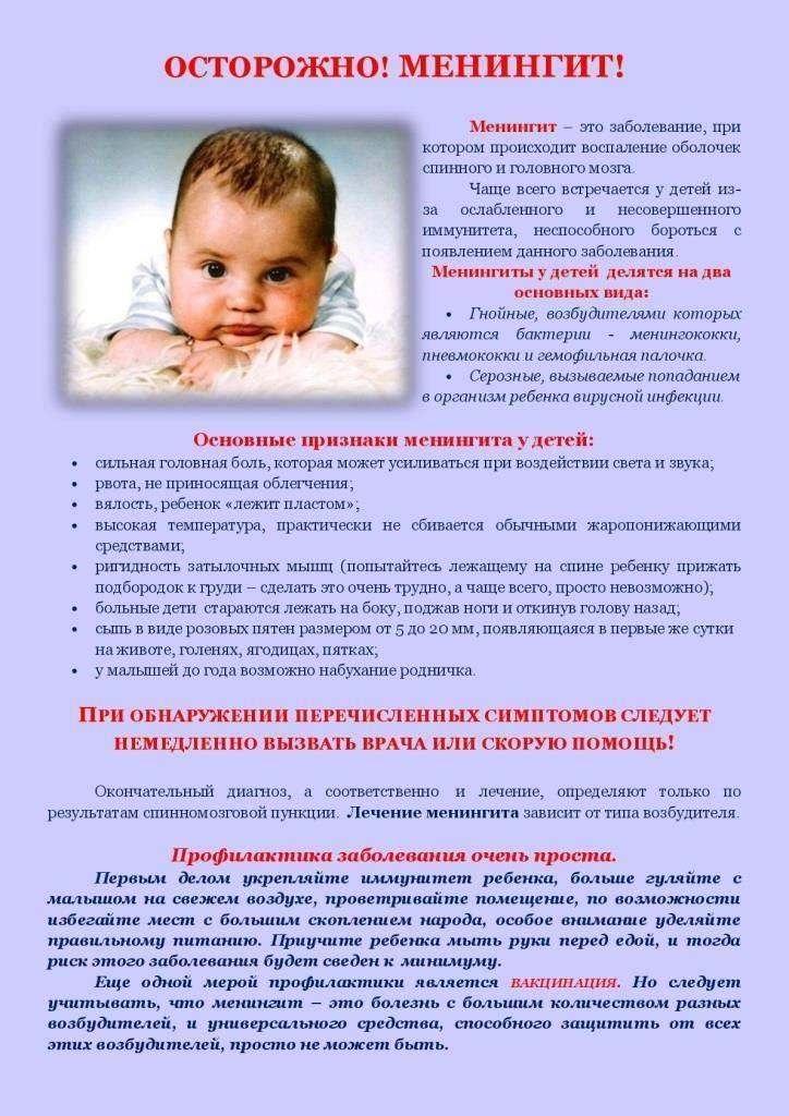 Вирусный менингит у ребёнка: симптомы, лечение, профилактика
