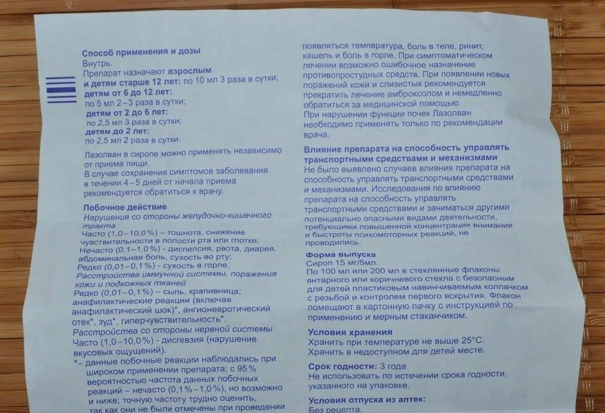 Лазолван сироп для детей: инструкция по применению детского раствора и таблеток от кашля | препараты | vpolozhenii.com