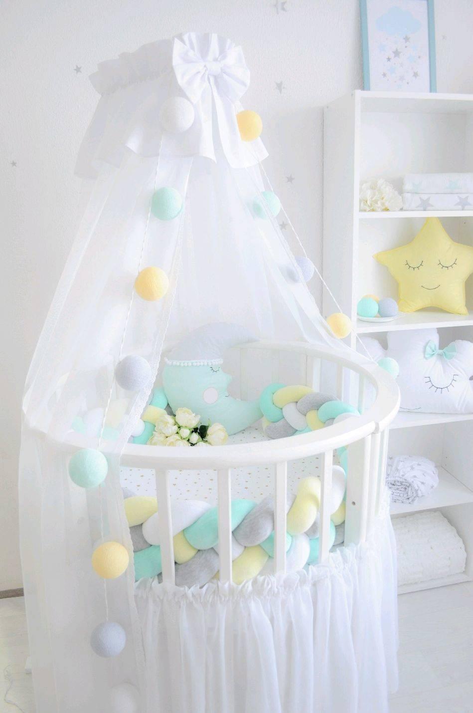 Правила пошива балдахина для детской кроватки своими силами