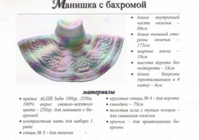 Как связать манишку спицами пошаговая инструкция с описанием