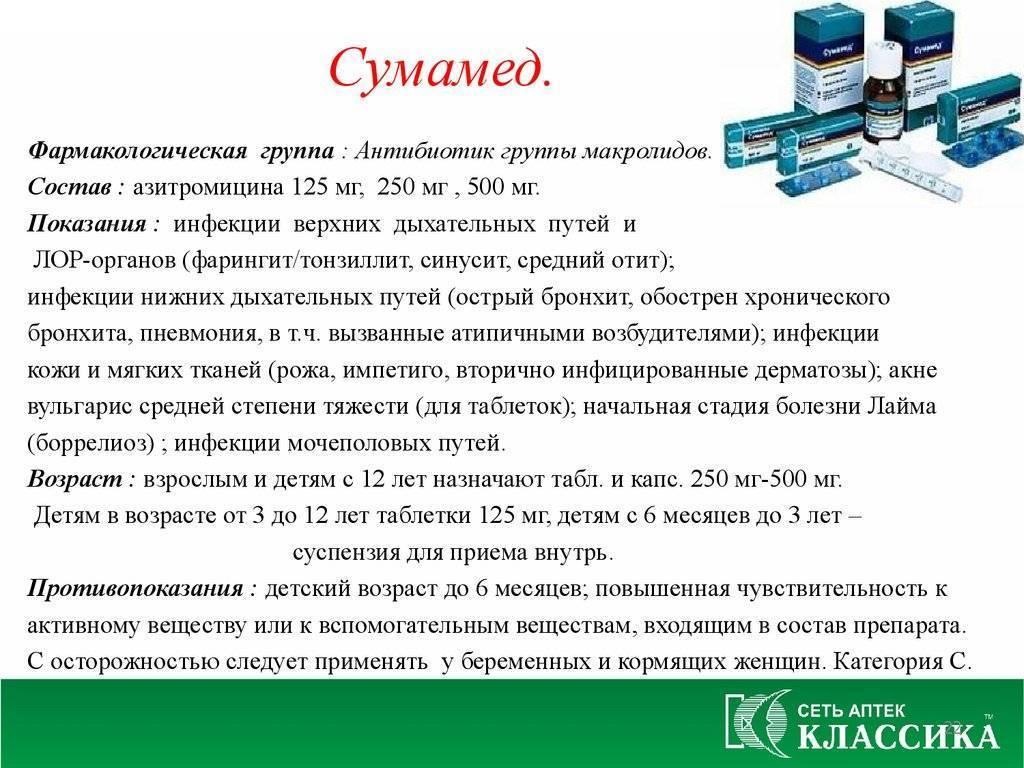 Суспензия «сумамед» для детей: инструкция по применению и дозировка, цена и отзывы на детский сироп, аналоги