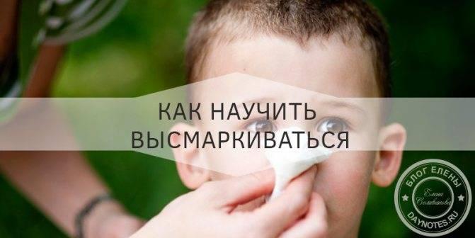 Как научить ребенка сморкаться? 2 простых способа
