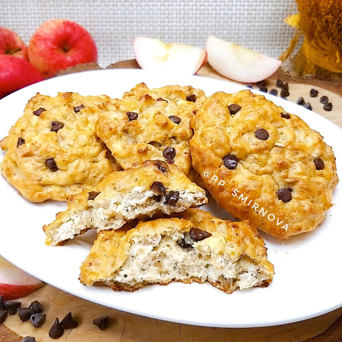 Овсяное печенье с творогом и бананом