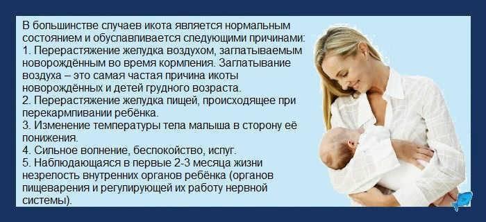 Икота у новорожденных после кормления грудным молоком: что делать - почему новорожденный грудничок и ребенок икает и почему младенец: причины у новорожденного