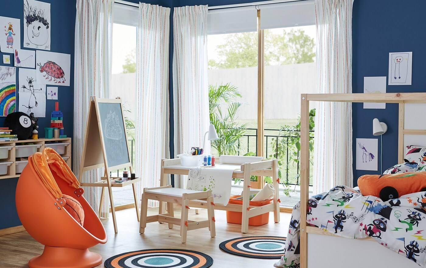 Детская комната в стиле икеа: фото интерьера для мальчика и девочки (подростков)   детская   vpolozhenii.com