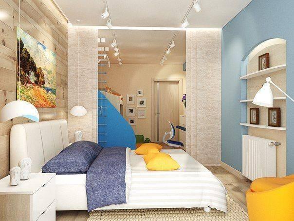 Однокомнатная квартира для семьи с ребенком: 4 принципа организации пространства и 55 фото