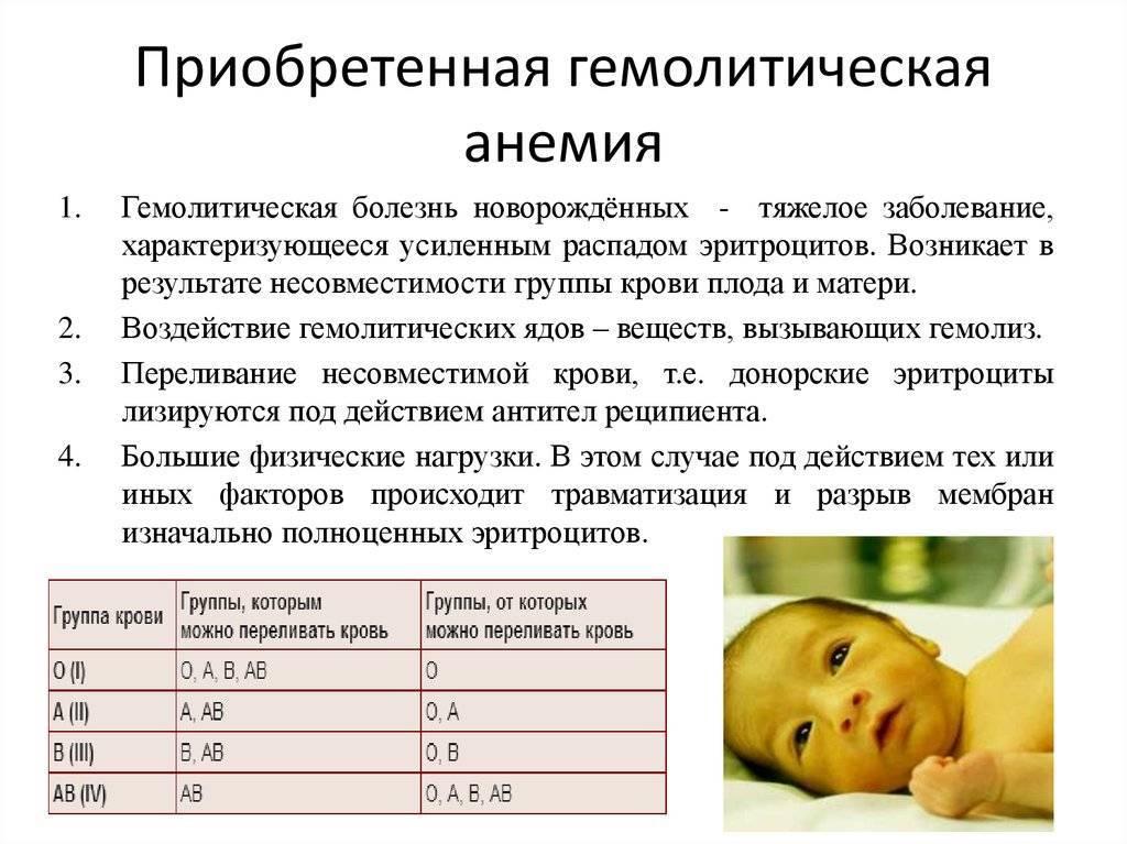 Гемолитическая желтуха у новорожденных детей