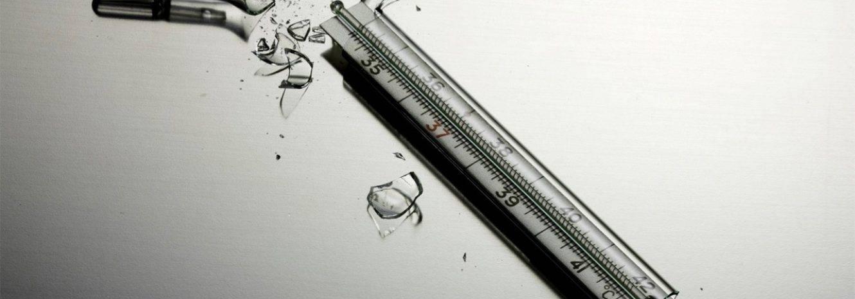 Что делать, если разбился ртутный градусник в квартире?