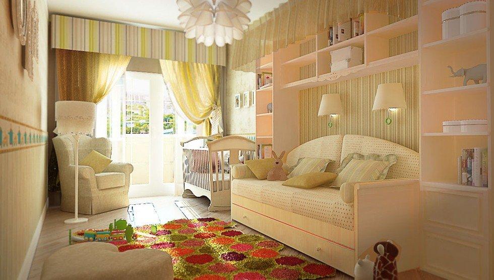 Дизайн детской спальни, совмещенной со взрослой в одной комнате или однокомнатной квартире с фото