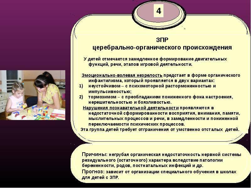 Лечение и коррекция задержки психического развития (зпр)
