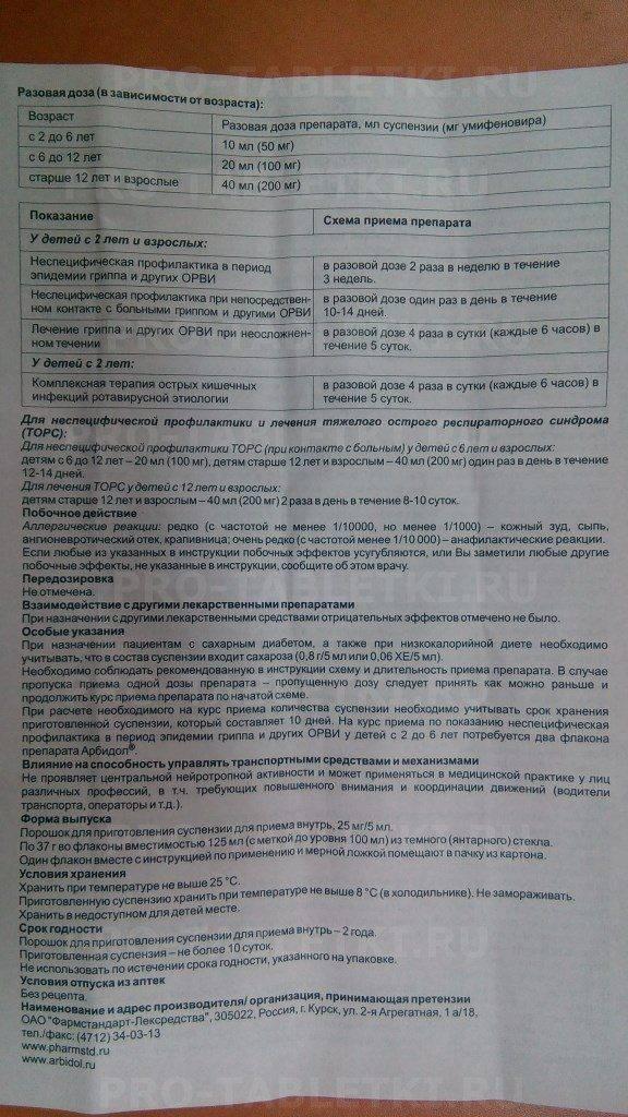 Арбидол суспензия инструкция по применению - поискаптек.рф