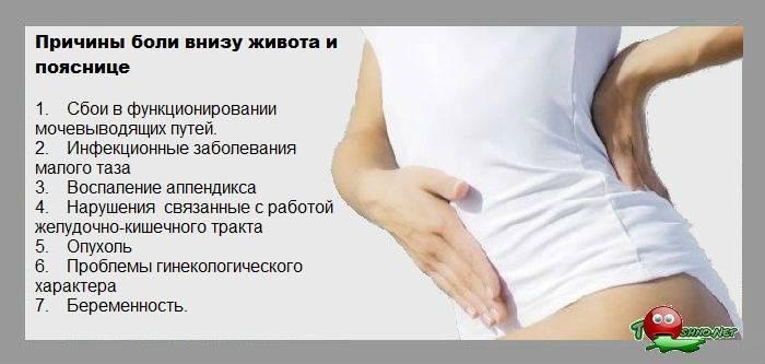 Режущие боли внизу живота при беременности во втором триместре