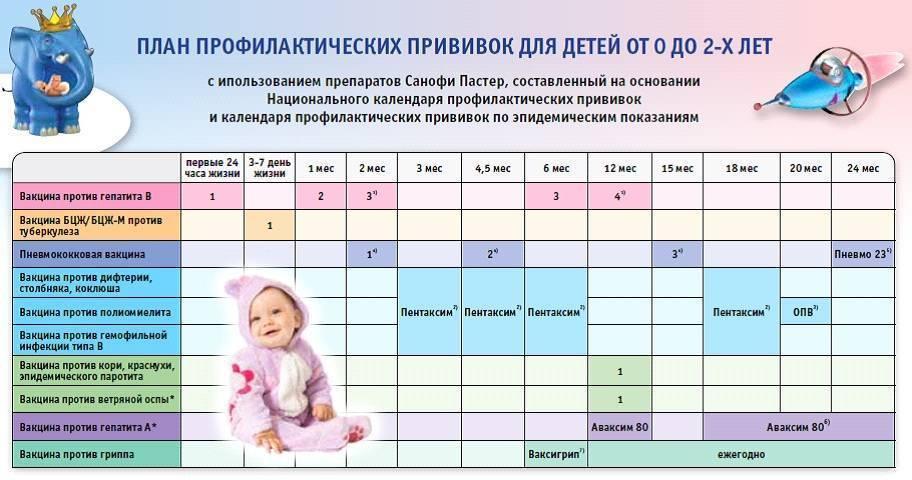 Национальный календарь прививок приказ какие изменения. график прививок детям: план вакцинации новорожденных, малышей до года и старше