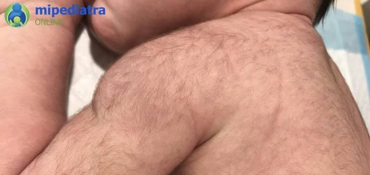 Фото спина новорожденного