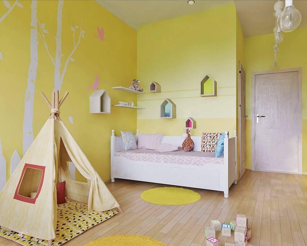 Покраска стен в детской комнате: как выбрать, в какой цвет покрасить - salon