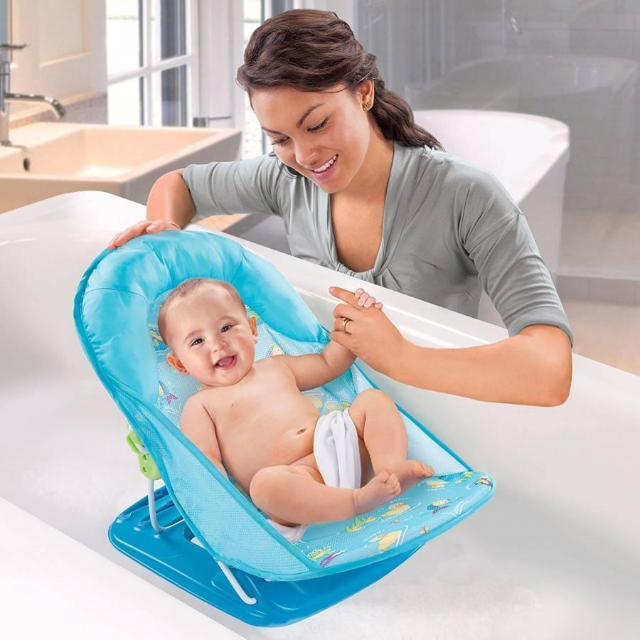Как выбрать ванночку для купания новорождённых: виды изделий и критерии выбора, правила эксплуатации