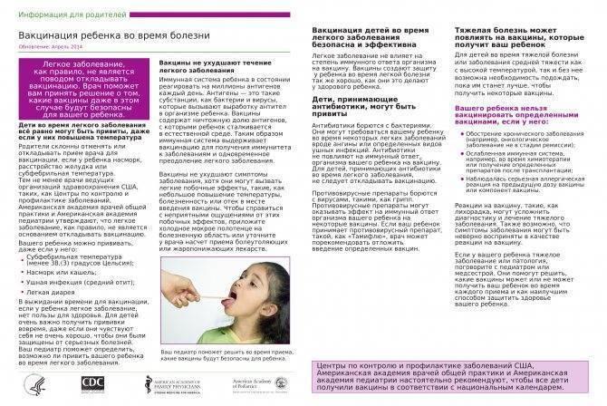 Подготовка к прививке пентаксим: анализы и другие мероприятия перед вакцинацией ребенка